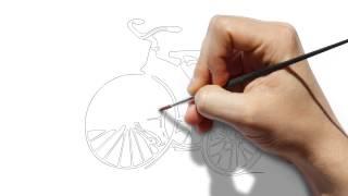 วาดรูปรถสามล้อ Draw a tricycle