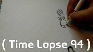 (Time Lapse 94) Quick MechaGodzilla Drawing