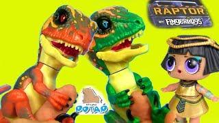 #ДИНОЗАВРЫ FINGERLINGS Куклы Лол и интерактивные игрушки! Видео для детей! Мультики с игрушками