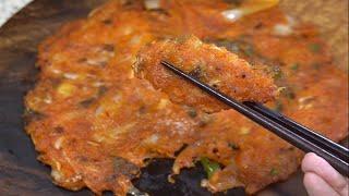 간단레시피 맛있고 바삭한 ♥엄마표요리 김치전 / Mom…