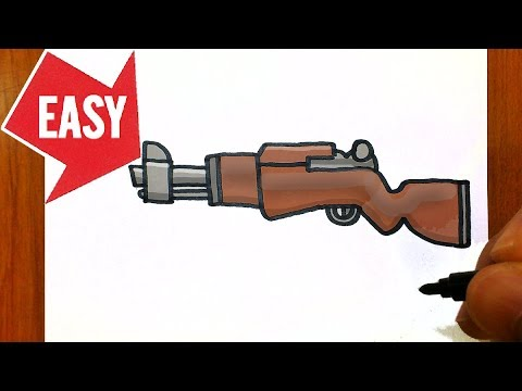 How To Draw Fortnite Weapons Easy