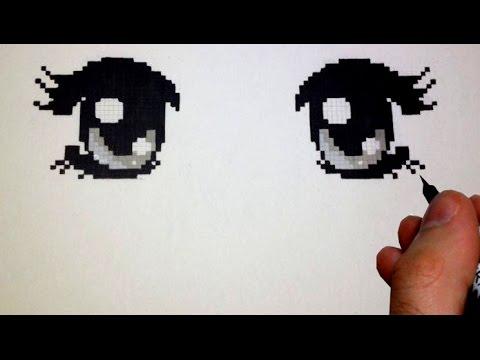 How To Draw Manga Eyes Pixel Version