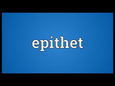 Epithet Meaning