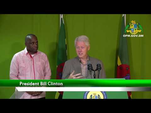 Prime Minister Roosevelt Skerrit & President Bill Clinton Press Statement
