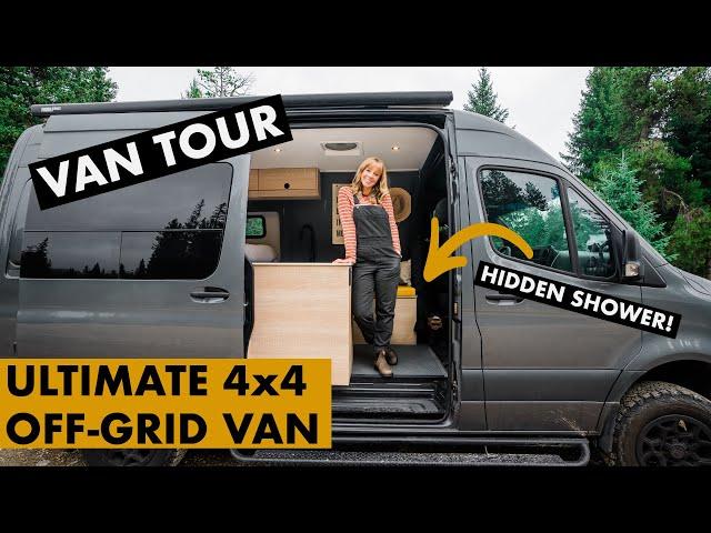 VAN TOUR | THE ULTIMATE VAN SPRINTER VAN CONVERSION  | w/ INDOOR SHOWER and MASSIVE battery bank