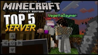 TOP 5 SERVERS PARA MINECRAFT PE 1.4 - 1.5 !!