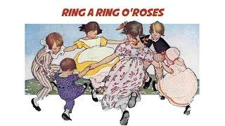 Ring a Ring o' Roses (instrumental - lyrics video for karaoke)