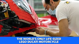The world's only life-sized LEGO Ducati motorcycle