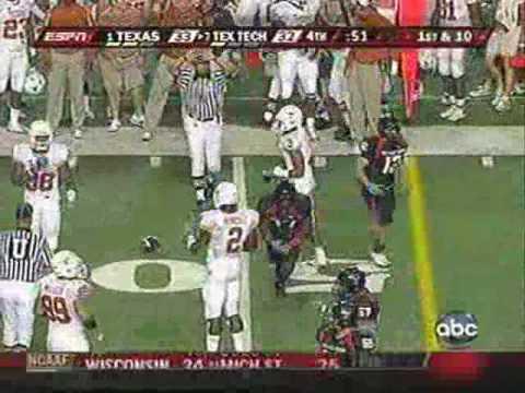 Texas Tech vs. Texas 2008: Epic Play