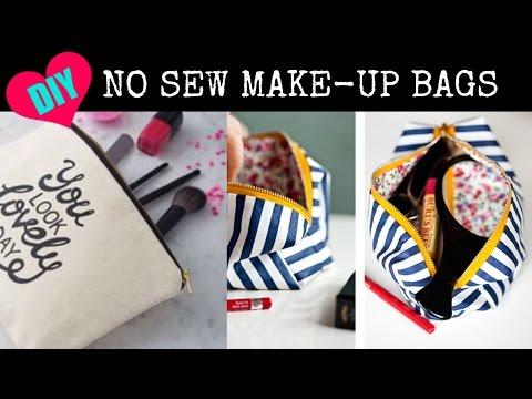 DIY NO SEW Make up Bags