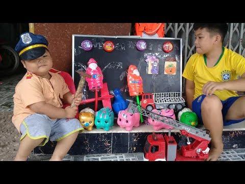 Đồ Chơi Trẻ Em Bé Pin Đập Heo Đất Nhận Qùa❤ PinPin TV ❤ Baby Toys Piggy Gifts