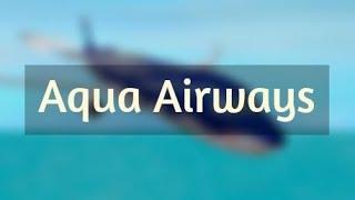 ROBLOX | Aqua Airways Boeing 777-200 Flug