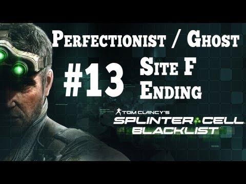 Splinter Cell Blacklist [Stealth Perfectionist Ghost] Walkthrough - Part 13 Site F + Ending HD