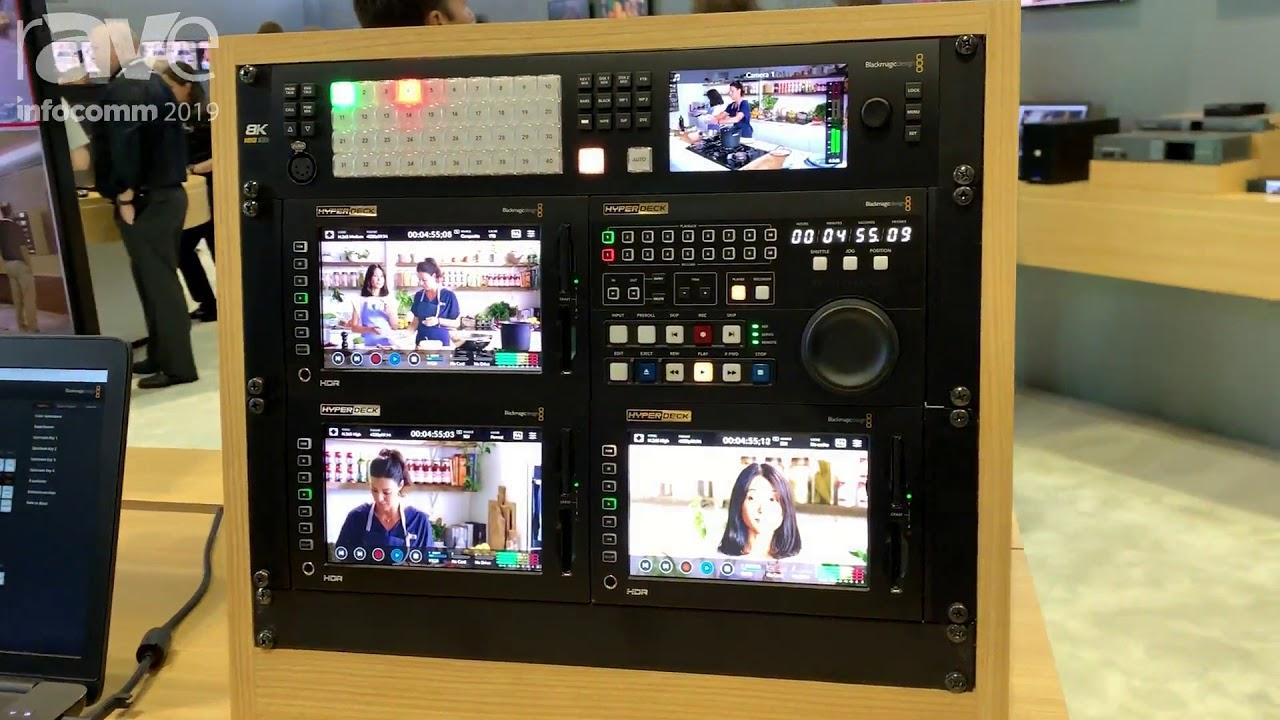 Infocomm 2019 Blackmagic Design Showcases Atem Constellation 8k Switcher With Quad Sdi Inputs Youtube