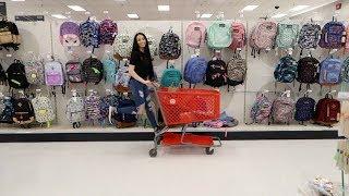 SCHOOL SUPPLIES SHOPPING AT TARGET (VLOG) | Megan Mauk ♡