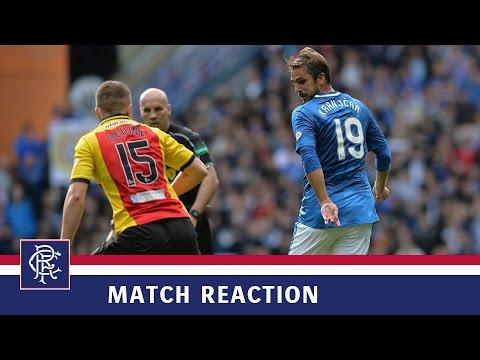 REACTION | Niko Kranjcar | Rangers 2-0 Partick Thistle