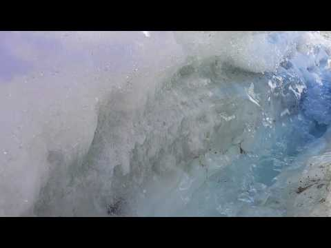 Meltwater Channel In Lower Canada Glacier, Antarctica