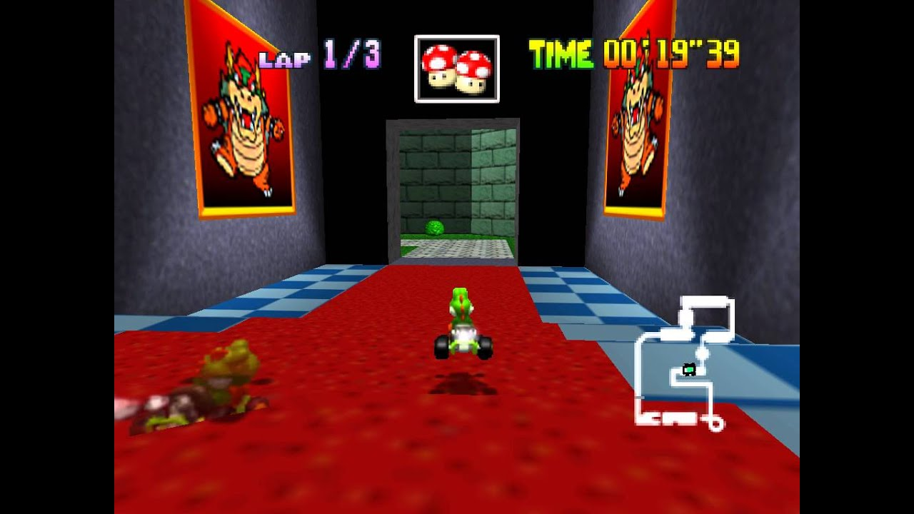 Image result for mario kart 64 time trial ghost