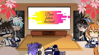 "💕🎶When the boy react to the girls sing ""dear future husband""🎶💕"