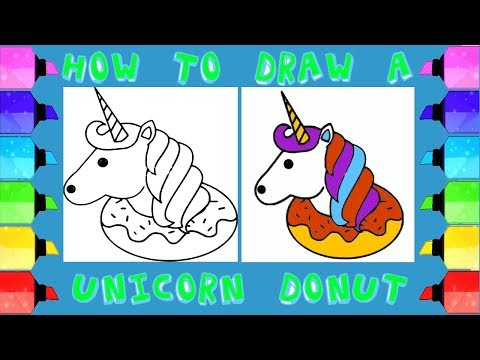 HOW TO DRAW A UNICORN DONUT EASY DRAWINGS STEP BY STEP | #Drawing-Extra