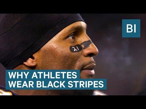 Why so many athletes wear black marks under their eyes