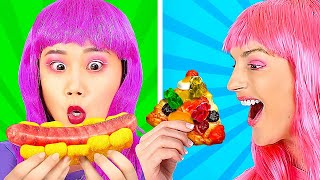GUMMY FOOD VS REAL FOOD CHALLENGE! || Funny Challenges for Foodies by 123 Go! Genius