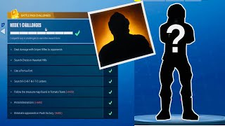 Fortnite Saison 4 Semaine 1 Challenges Guide! Road to Mystery Skin!