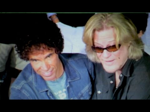 HALL & OATES put hands in cement at Rockwalk in Los Angeles
