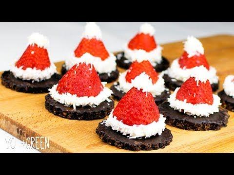 🎅🏻🍪 Santa's Hat with Chocolate Biscuits | Sugar & Gluten Free | Yo +Green