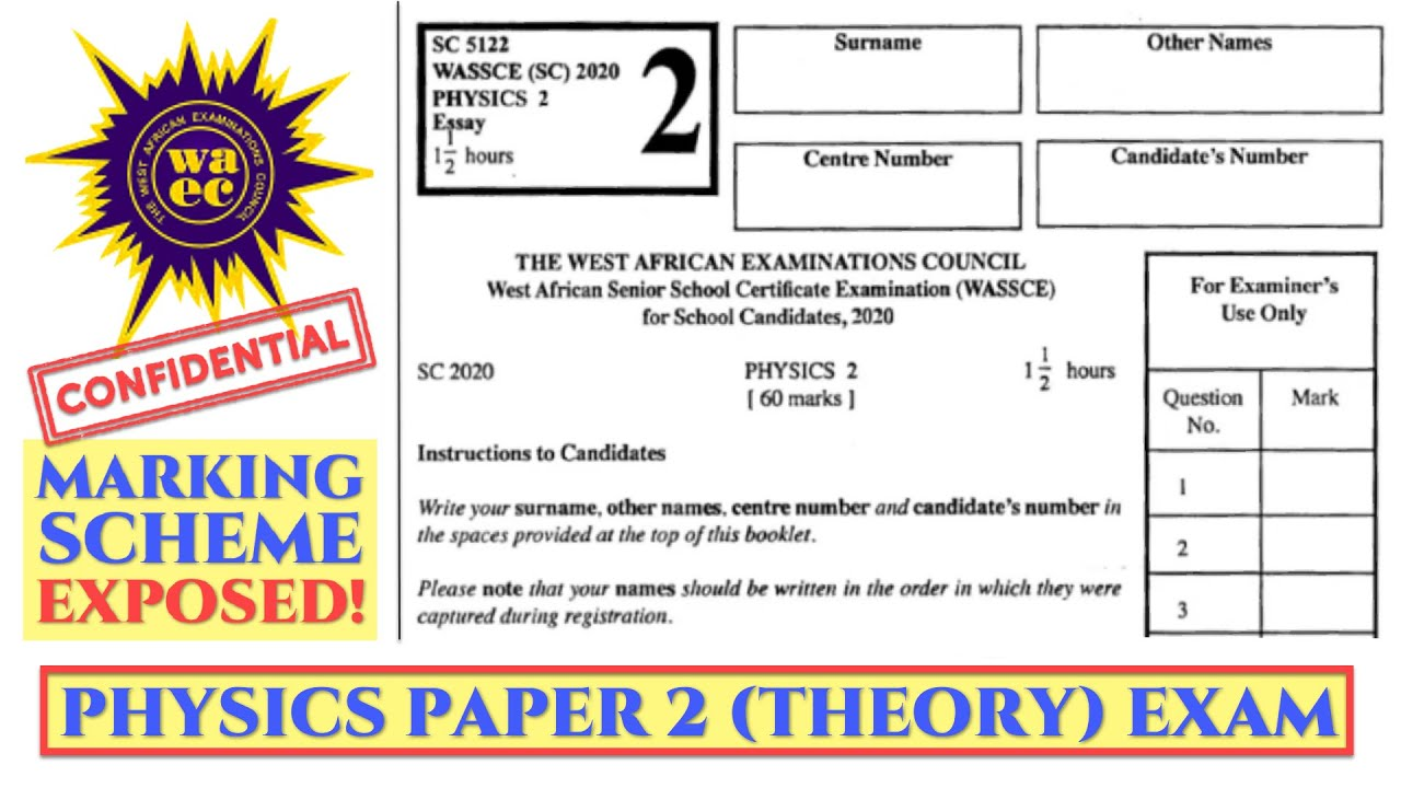 Download WAEC WASSCE 2021 PHYSICS PREP 💯 DETAILED SOLUTION AND MARKING SCHEME OF PHYSICS THEORY PAPER 👊