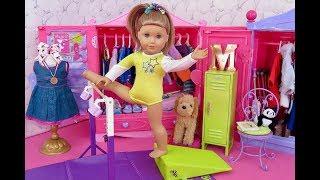 American Girl Doll Mckenna's Gymnastics Closet Tour!