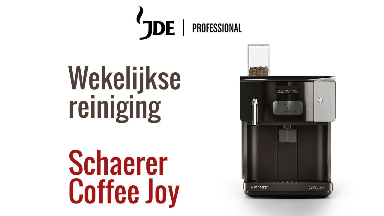 wekelijks reinigen schaerer coffee joy jacobs douwe egberts professional youtube. Black Bedroom Furniture Sets. Home Design Ideas