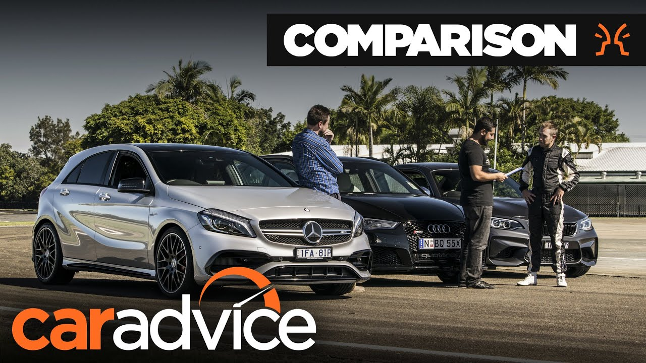 Innovative Comparison  Audi RS3 V BMW M2 V MercedesAMG A45  Track