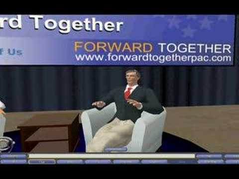 Governor Mark Warner virtual interview in Second Life