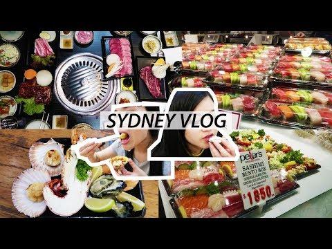 SUSHI MARKET & KOREAN BBQ | SYDNEY VLOG 1