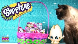 Shopkins Surprise Easter Basket Opening | Eggs Food Fair Hangers | PSToyReviews
