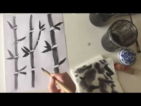 How to paint bamboo using a Chinese brush