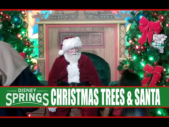 Disney Springs Christmas Tree Trail 2019 Full Walkthrough Tour - Santa Claus