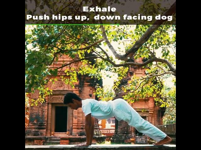 Blue Indigo yoga siem reap Madhav Surya namaskar