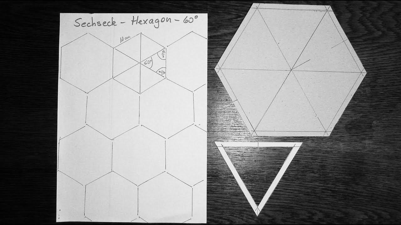 Patchwork – Kaleidoskopdecke nähen - Hexagon konstruieren - alle ...
