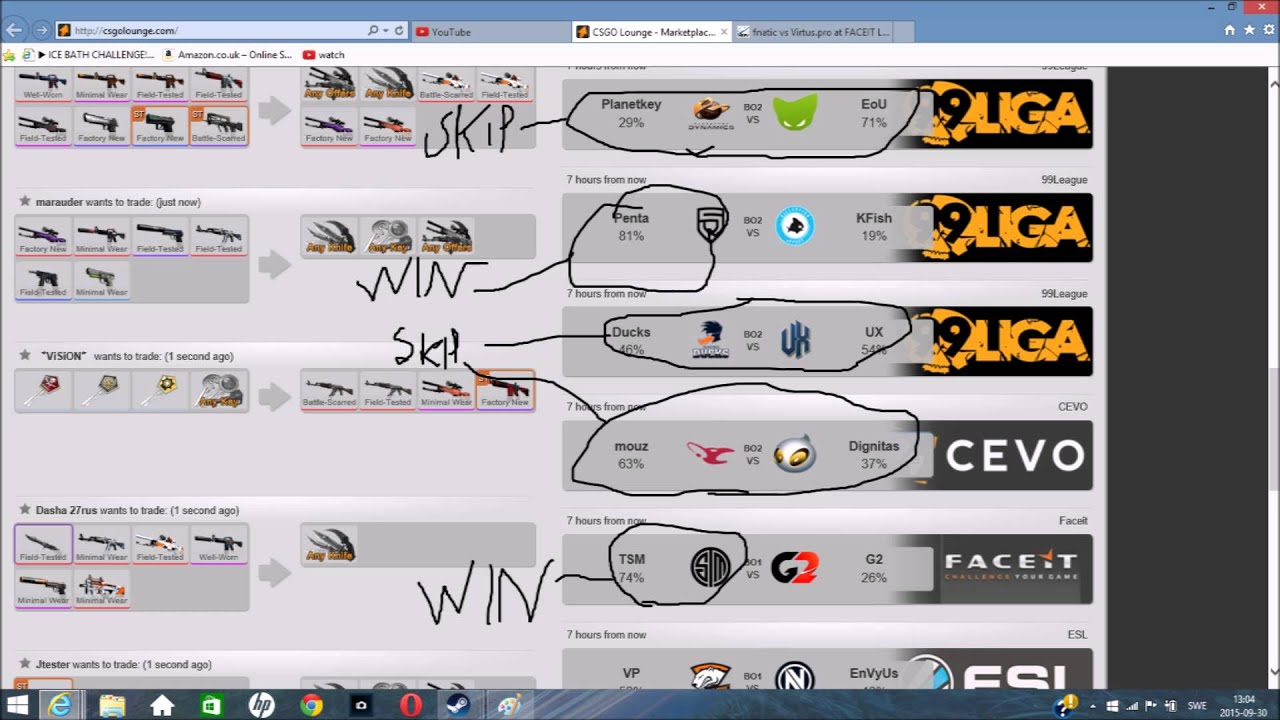 Csgo lounge betting graphite betting terms each way calculation