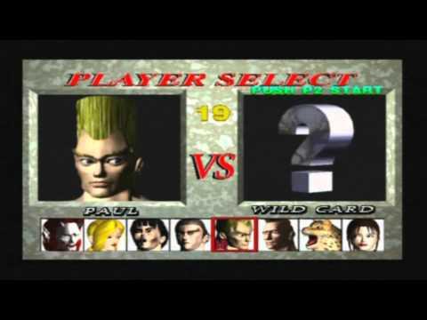 Tekken 1 arcade - Selecting All Characters - YouTube