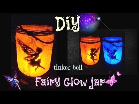 DIY Fairy Glow jar Lantern--tinker bell glow jar--Artsyworld