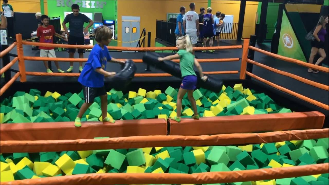 Jousting At Rockin Jump In Myrtle Beach Sc Youtube