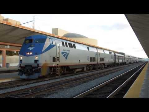 "Amtrak ""Southwest Chief"" depart Los Angeles Union Station"