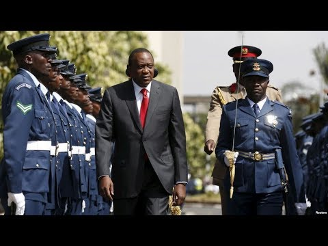 President Uhuru Kenyatta arrival for the 12th parliamentary sitting