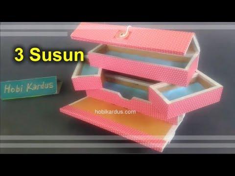 Mantul! Cara Membuat Kotak Pensil dari Kardus 3 Susun ...