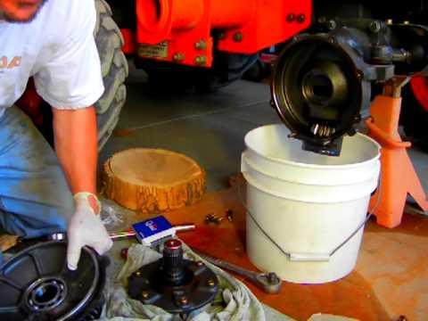 Kubota Tractor Front Axle Bearing Repair Part 5