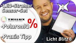 LED Außenstrahler mit Bewegungsmelder - Montage Life Hack - TRILUX Polaron Rabatt - Lichtblitz 8