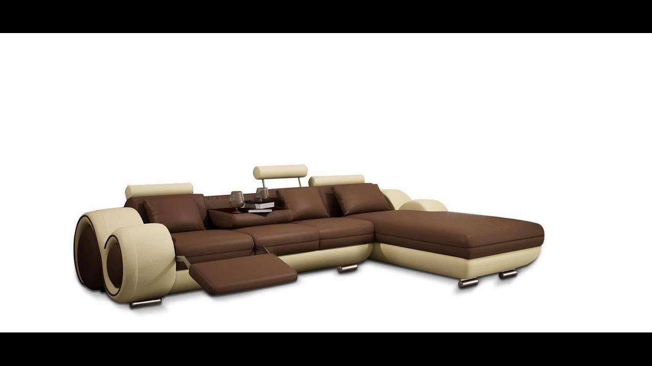 DIVANI CASA 4085 MODERN BONDED LEATHER SECTIONAL SOFA  sc 1 st  YouTube : modern bonded leather sectional sofa - Sectionals, Sofas & Couches